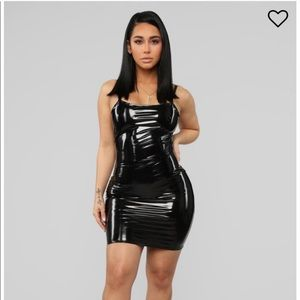 stick with me latex mini dress